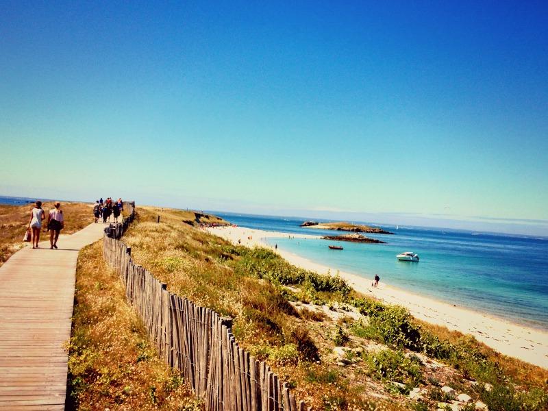 Voici l'île de Saint Nicolas dans l'archipel des Glénan.