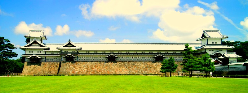 Panorama du château de Kanazawa.